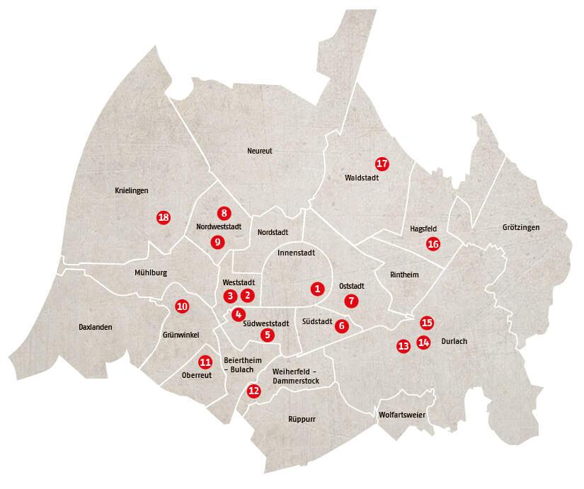 AWO Kitas Map 4 AWO Karlsruhe