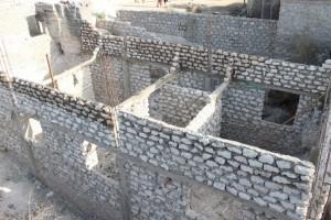 Bild vom Rohbau des Hauses, das in Likoni für die Weisenkinder gebaut wurde.