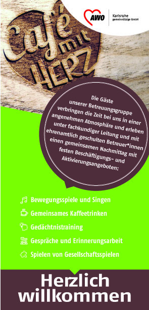 Plakat: Café mit Herz für Menschen mit Demenz