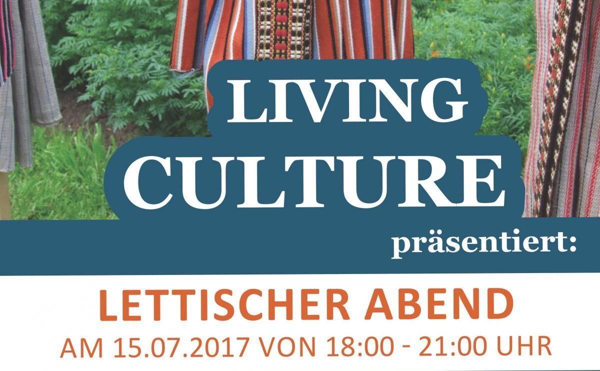 Plakat Living Culture Lettischer Abend