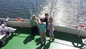 Nette Gespräche auf dem Schiff.