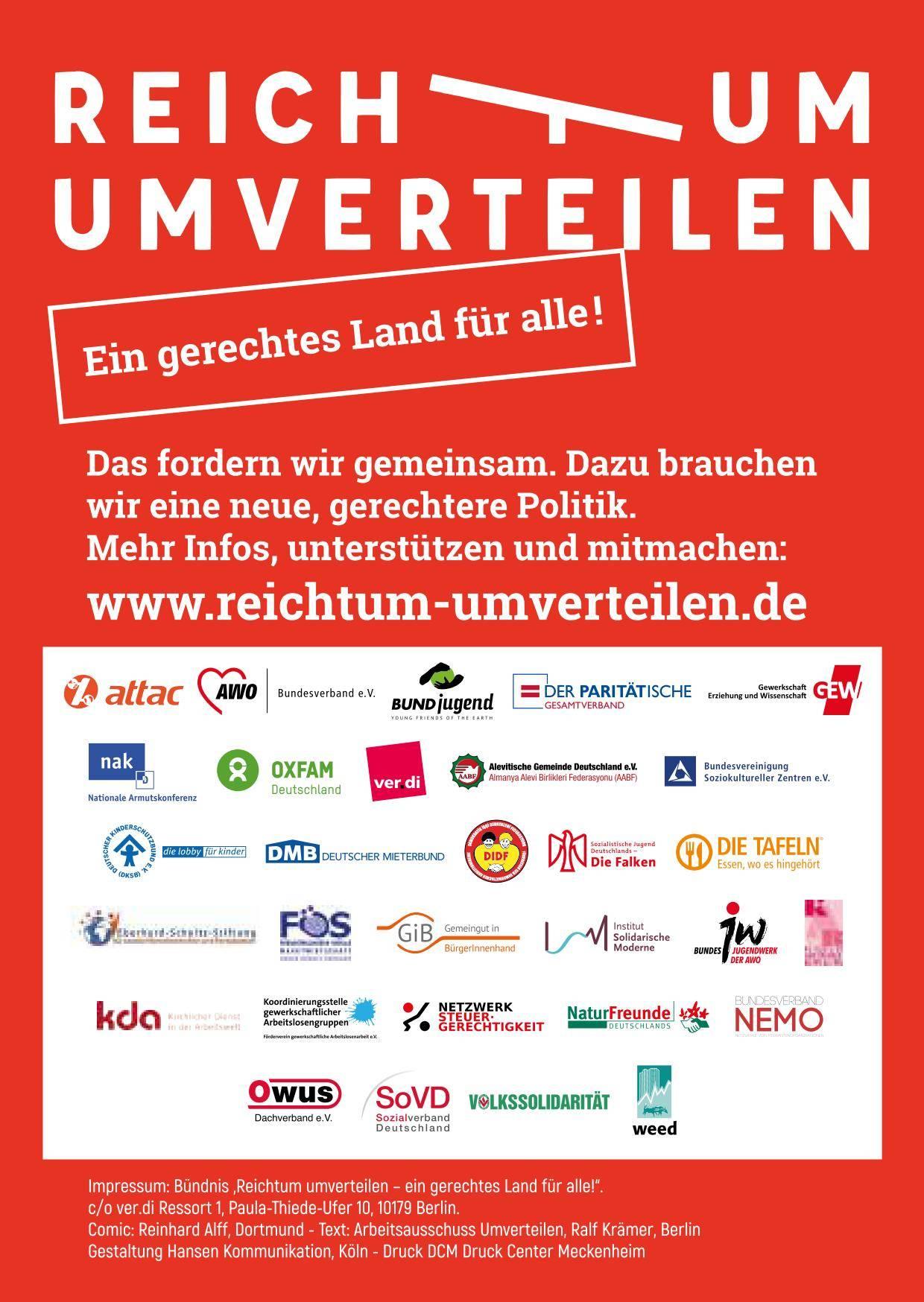 Plakat der Initiative Reichtum umverteilen