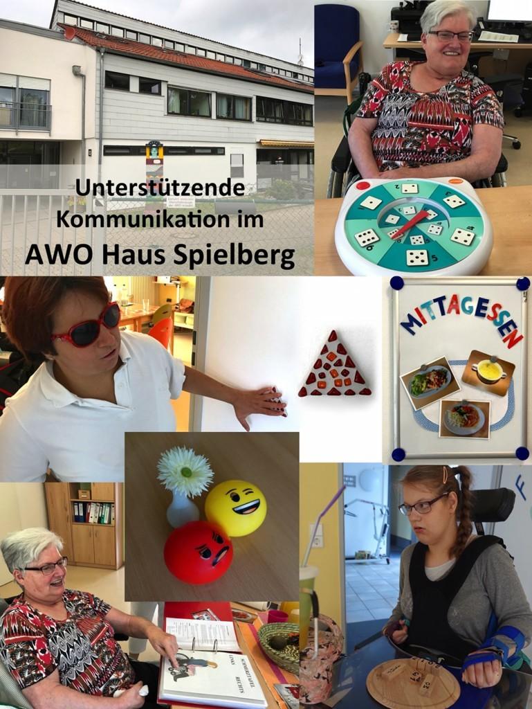 Collage der Unterstützenden Kommunikation im AWO Haus Spielberg