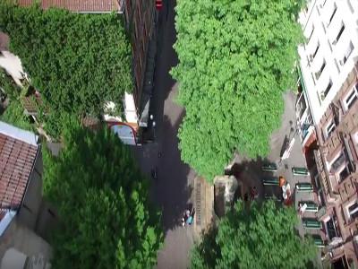 Bild vom Werderplatz in Karlsruhe aus der Luft