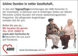 Anzeige der Tagespflege der AWO Karlsruhe