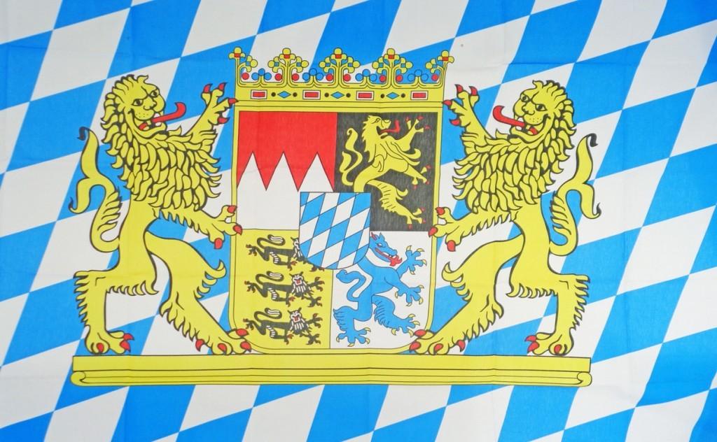 Bild von der bayrischen Flagge.