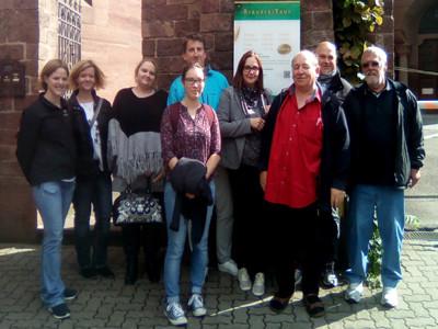 Mitarbeiter*innen der Mobilen Pflege und Betreuung der AWO Karlsruhe.
