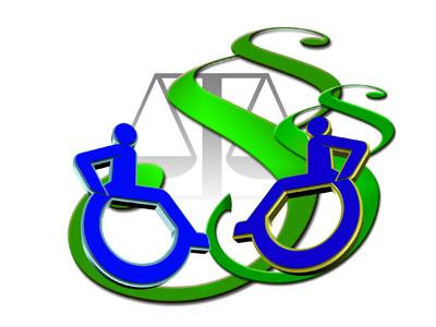 Ein Piktogramm von zwei Rollstuhlfahrern.