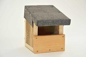 Vogelhaus aus Holz.