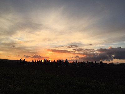 Sonnenuntergang in Karlsruhe.
