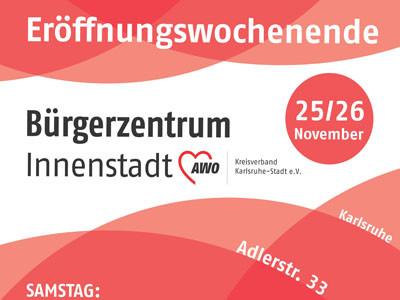 Flyer Eröffnungswochenende AWO Bürgerzentrum Innenstadt