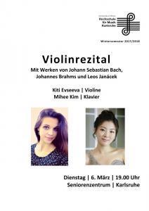 Plakat für ein Violinenrezital