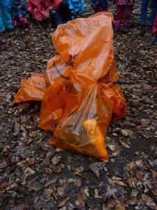 Gefüllte Müllbeutel