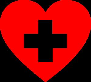 Rotes Kreuz im Herz
