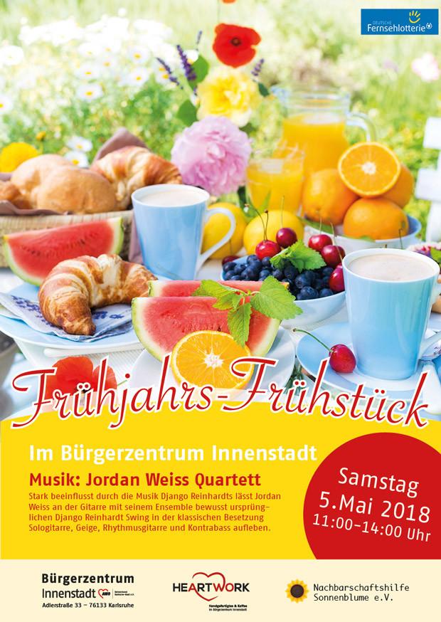 Plakat Frühjahrsfrühstück