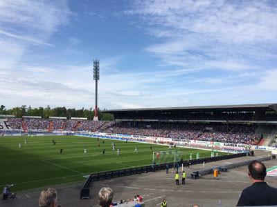 Bild vom Fußballstadion des KSC.