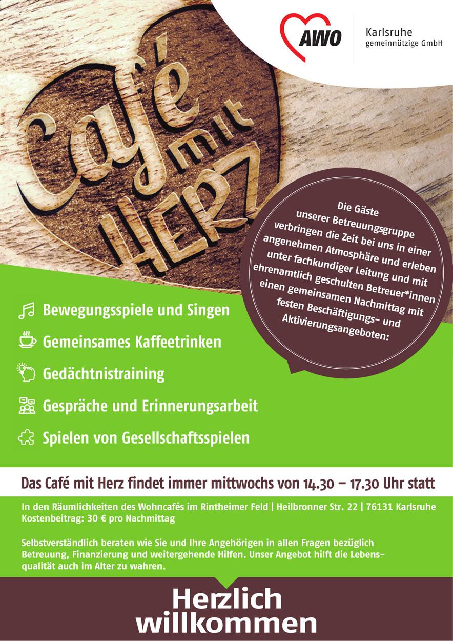 Flyer Café mit Herz