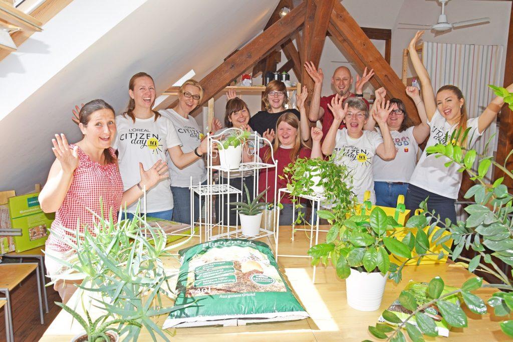 AWO Durlach Jungendhilfen und Loreal Citizen Day Bild im Text AWO Karlsruhe