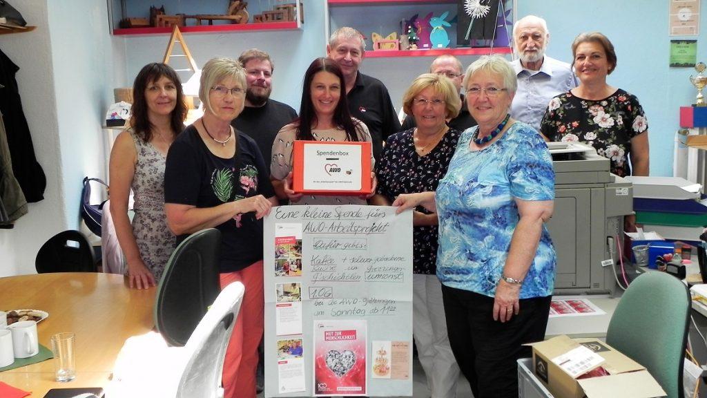 Spendenübergabe des Ortsvereins Grötzingen an das Team von Heartwork