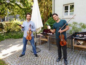 Gartenkonzert Karl-Siebert-Haus das Duo der Badischen Staatskapelle