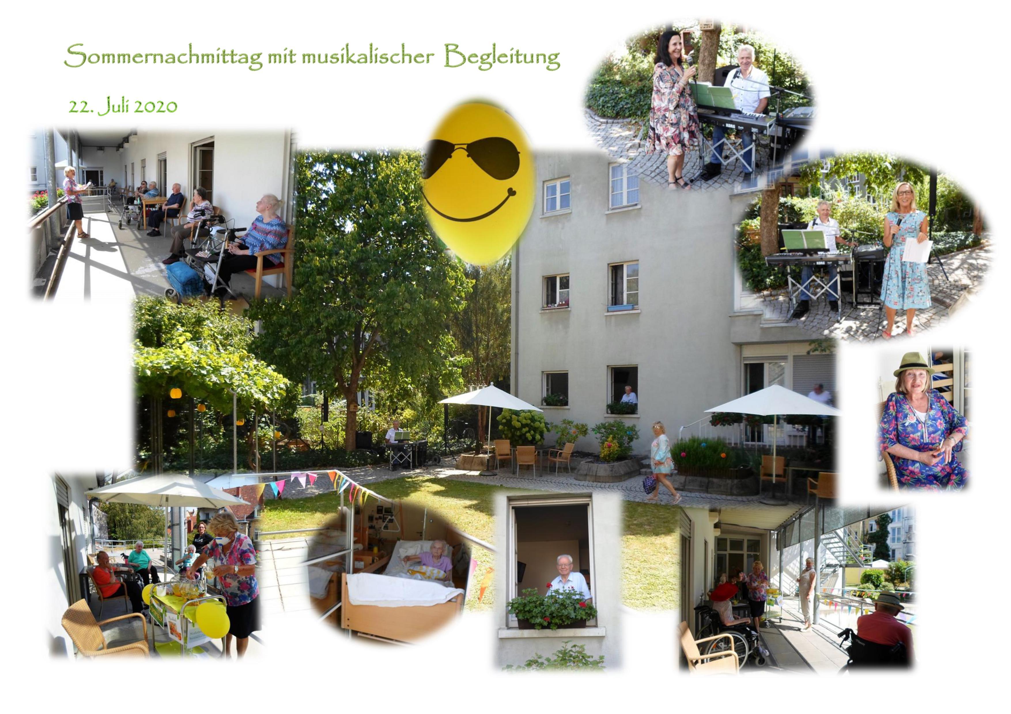 Collage mit Impressionen vom Sommernachmittag im Karl-Siebert-Haus