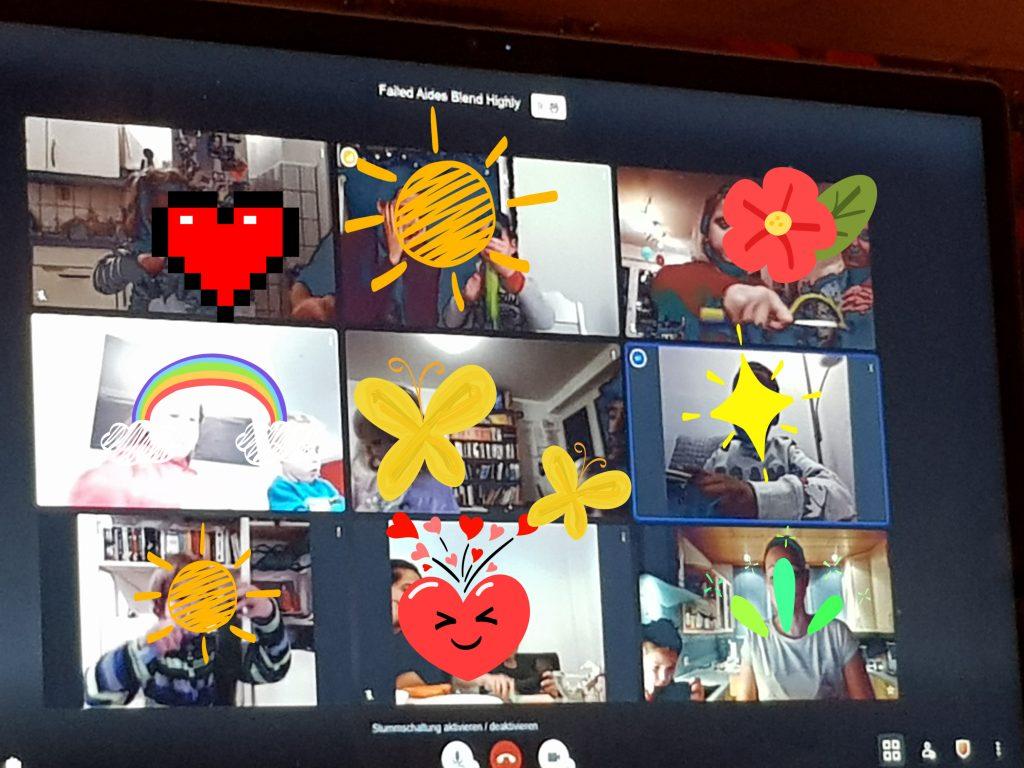Vorschueler der AWO Kita Krone treffen sich digital