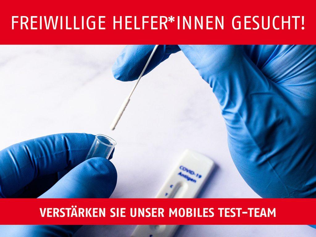 Aufruf Schnelltest Team BB AWO Karlsruhe