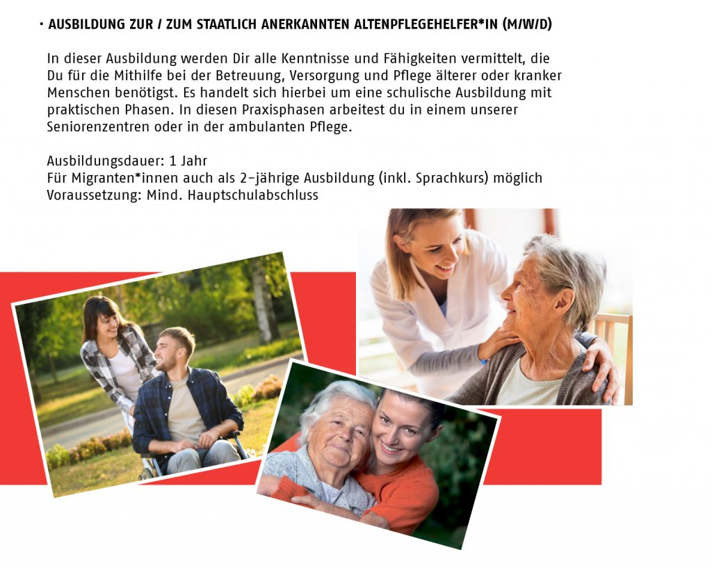 Ausbildung Altenpflegehelfer/in