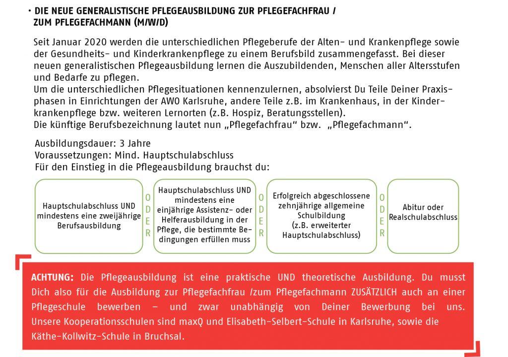 Infoblock Generalistische Pflege AWO Karlsruhe