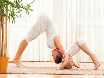 Mutter und beim Yoga
