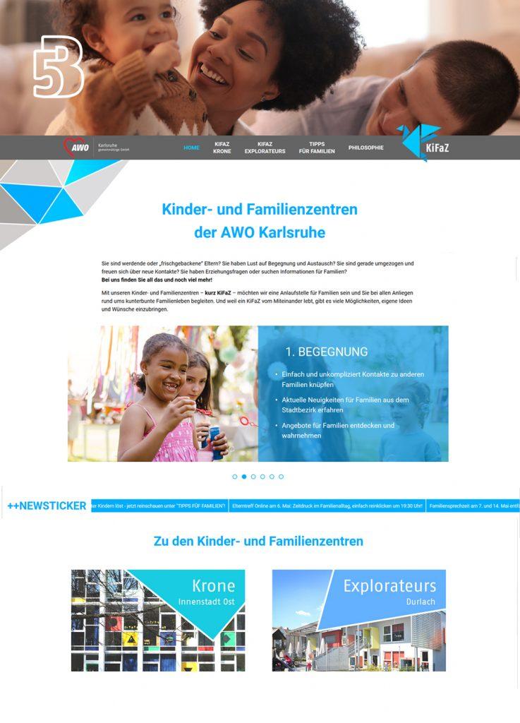 Website Kifaz AWO Karlsruhe
